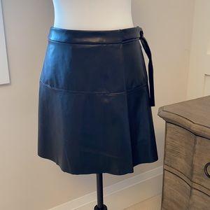 Wilfred Free Spurlock vegan wrap mini skirt xxs